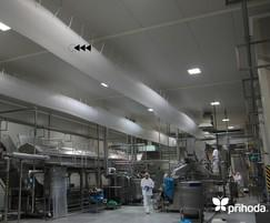 Sauce production with Prihoda fabric duct cooling