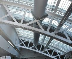 Office fabric ducting at the Royal Horticultural Halls