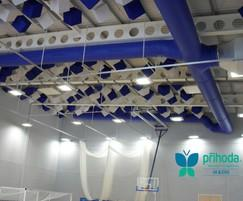 Whitmore School sports hall fabric ducting