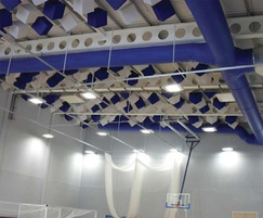 Fabric ducting for school sports hall