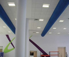 Textile diffusers for school canteen