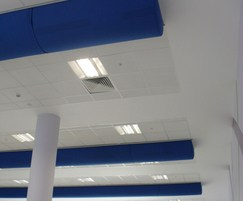 Prihoda fabric ducts -Whitmore School dining area