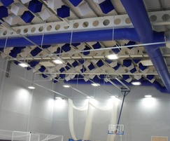 Prihoda fabric ducts -Whitmore School sports hall