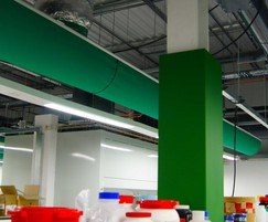 Prihoda fabric ducts act as ducts and diffusers in one