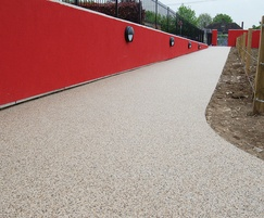 Resin bound permeable entrance to school and play area