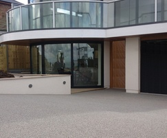 Resin bound entrance to office reception, easy to clean