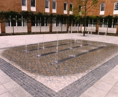 Jet plaza water feature for university