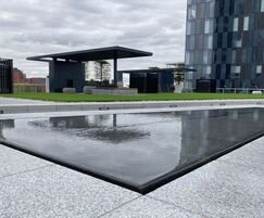 Roof terrace water table for city centre apartments