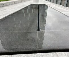 The water tables are mirror-like in non-windy weather