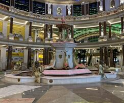 4-tier water feature with LED lighting