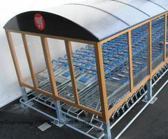 Mark III glazed mild steel and iroko timber enclosure