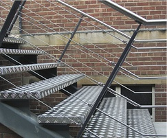Stainless steel bar infill balustrade