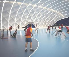 Inside multisports dome