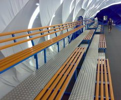 Internal seating for sports dome