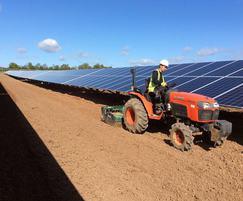 Seeding works - solar farm Measham