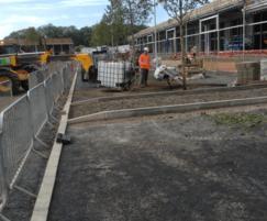 Work in progress at Elliot's Field Retail Park