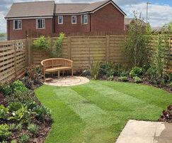 Rear garden for show home