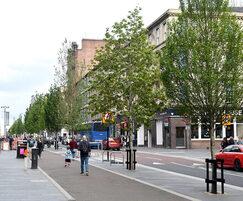 Urban greening - Sauchiehall Street, Glasgow