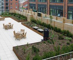 Overview of award-winning roof garden