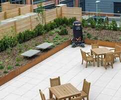 Recycled plastic furniture and acoustic fencing