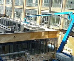 Craning materials to roof