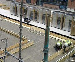 Construction works underway for roof garden