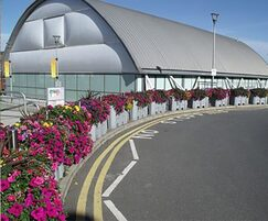 Planters can be installed for traffic management