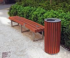 Bespoke bench and bespoke litter bins