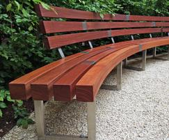 Bespoke bench with backrest for Guy's & St Thomas'