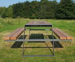 Murton picnic table in FSC hardwood
