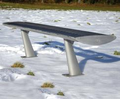 Steel FOIL contemporary bench