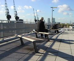 FOIL FSC timber and aluminium benches