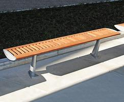 FOIL FSC timber and aluminium bench