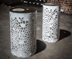 OSSO mild steel litter bins