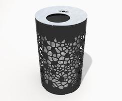 Contemporary design: OSSO small mild steel litter bin