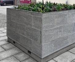 Factory Street Furniture granite clad planter