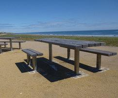 picnic table with wheelchair user access