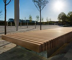 6m long benches with sturdy wooden slats