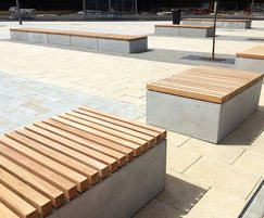 FSC slatted timber benches