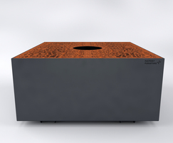 Osso Tree Planters in corten with a biophyllic design