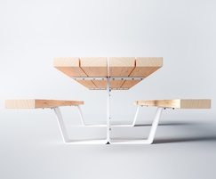 Pik Picnic table in FSC softwood and galvanised steel