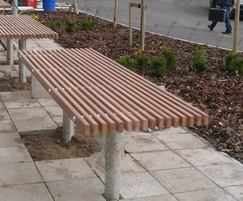Serpentine Table in FSC hardwood and stainless steel