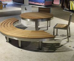 Tree table in FSC hardwood and stainless steel