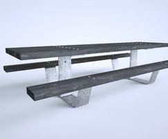 Pik Picnic table in Shou Sugi Ban softwood