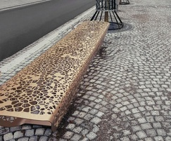 Contemporary OSSO bronze bench - Maastricht station