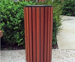 Boort bin in FSC hardwood with stainless steel top