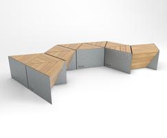 Sonobe in galvanised steel and FSC hardwood