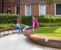 Large planter with perimeter seating