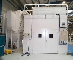 Acoustic enclosure for thermal spraying