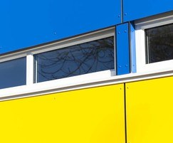 Blue and yellow coloured VIVIX panelling